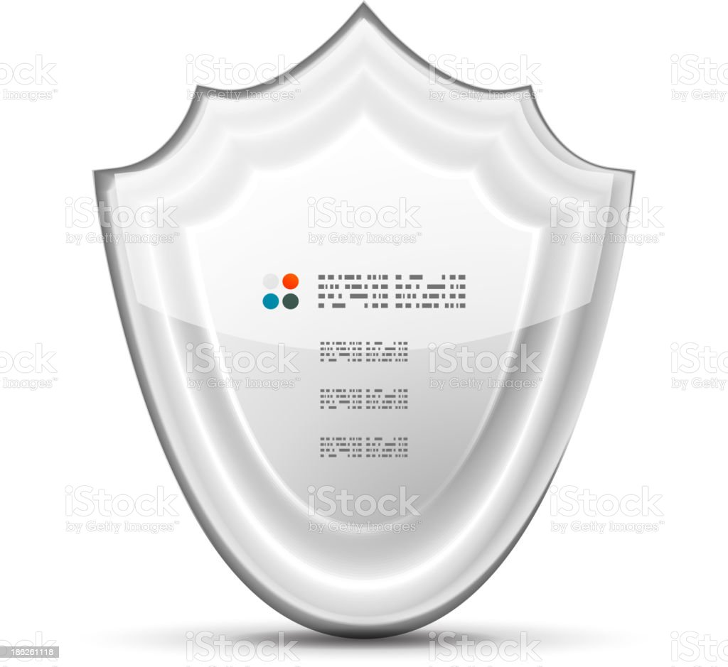 Vector 3d white protection concept royalty-free stock vector art