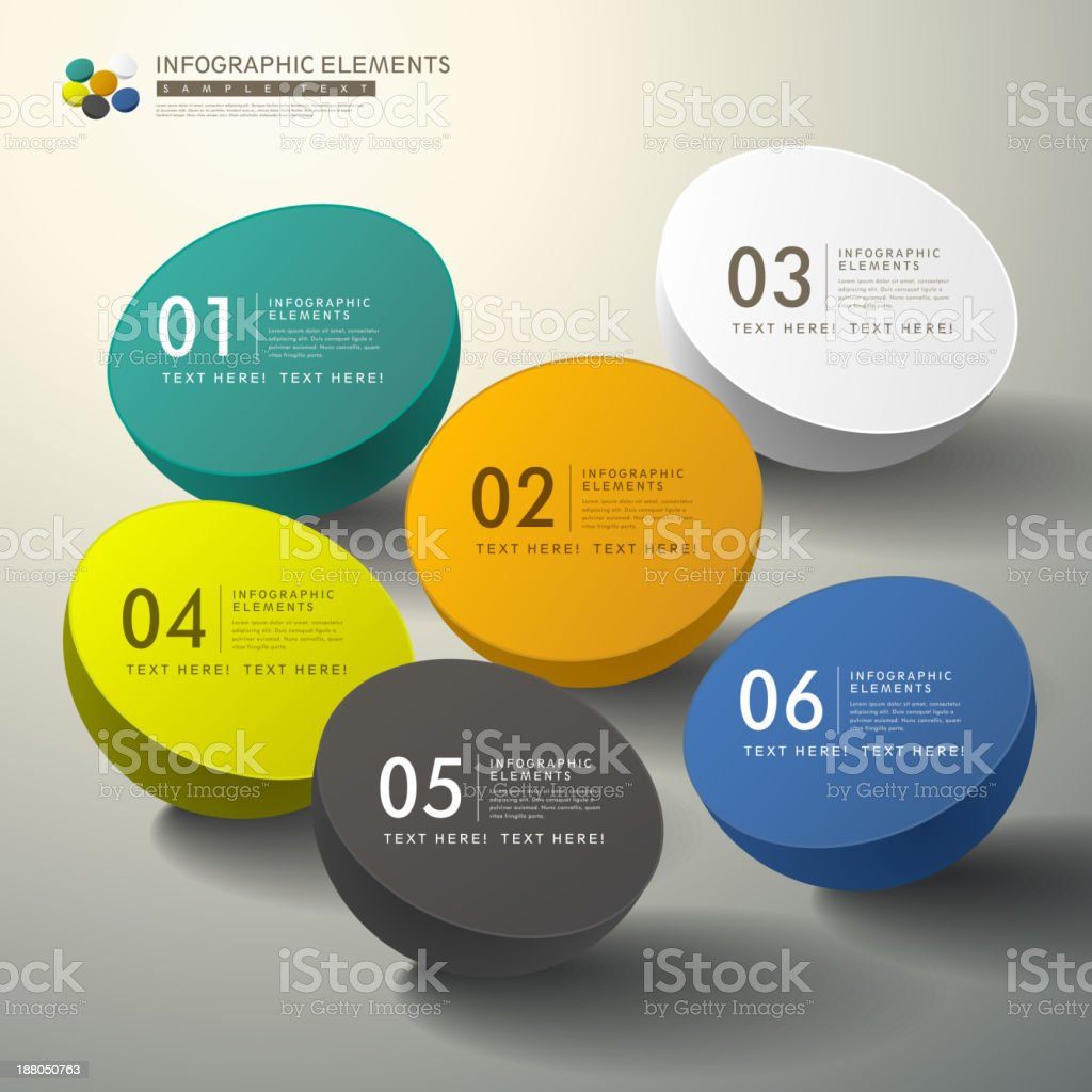 vector abstract 3d infographics royalty-free stock vector art