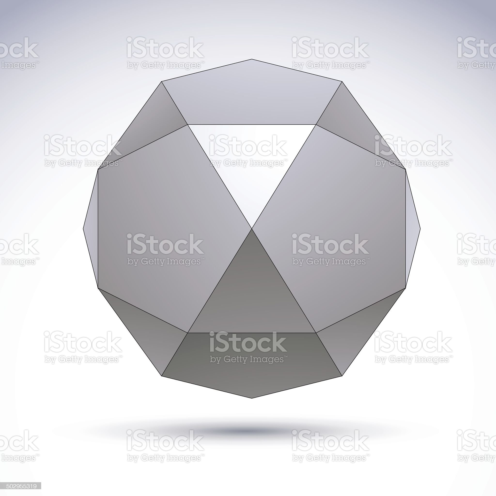 Vector abstract 3D object, design technology element royalty-free stock vector art