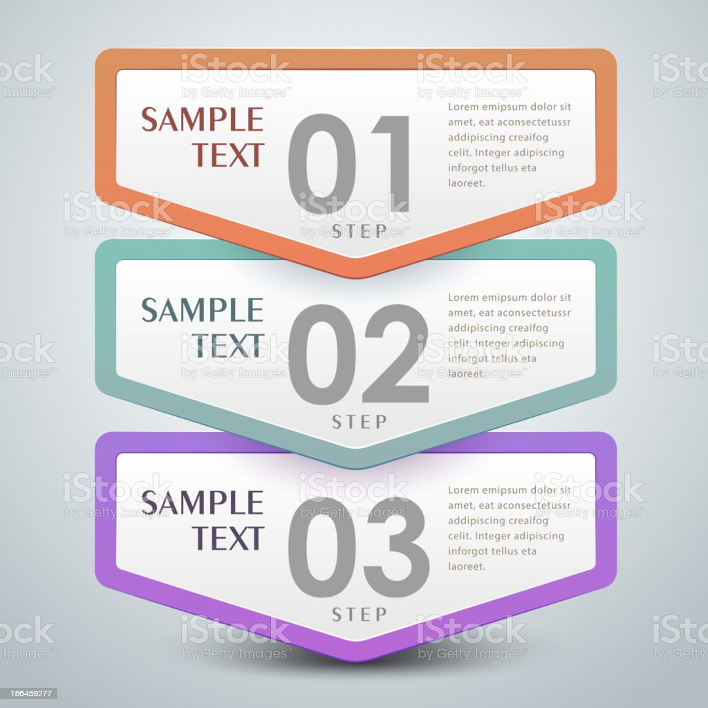 vector abstract 3d paper infographics royalty-free stock vector art