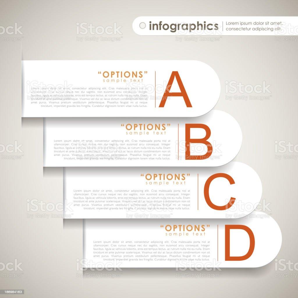 vector abstract 3d paper infographics vector art illustration