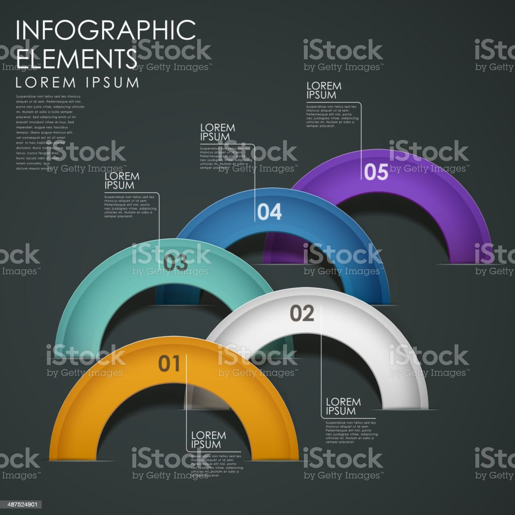 vector abstract arch infographic elements vector art illustration