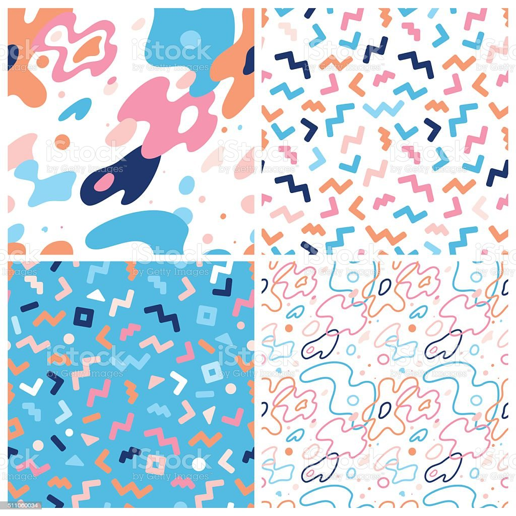 Vector abstract background and seamless patterns vector art illustration