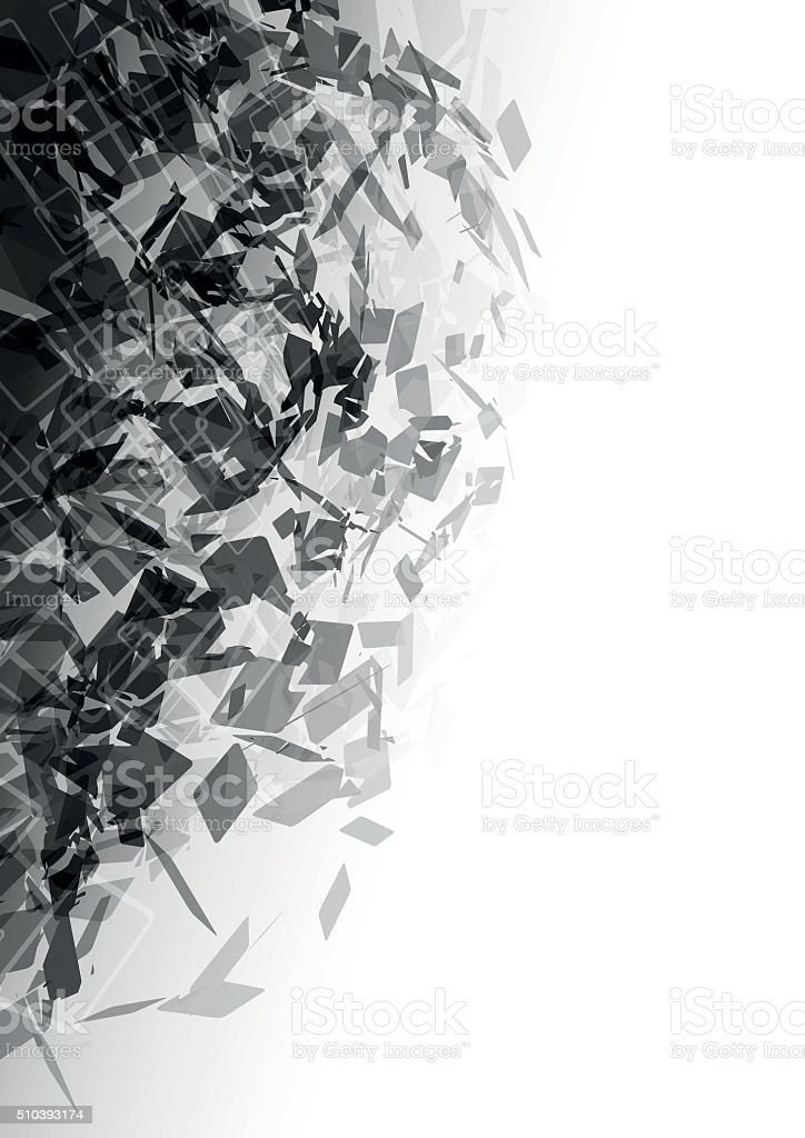 Vector abstract  background - explosion vector art illustration