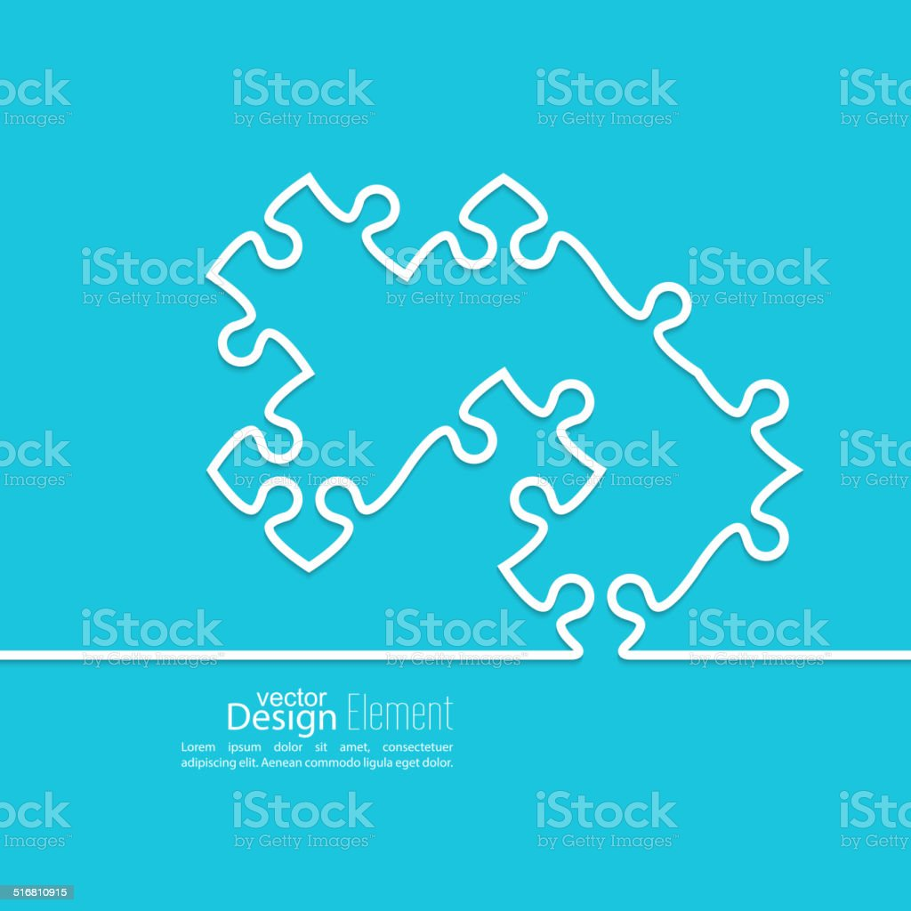 Vector abstract background from pieces of puzzle vector art illustration