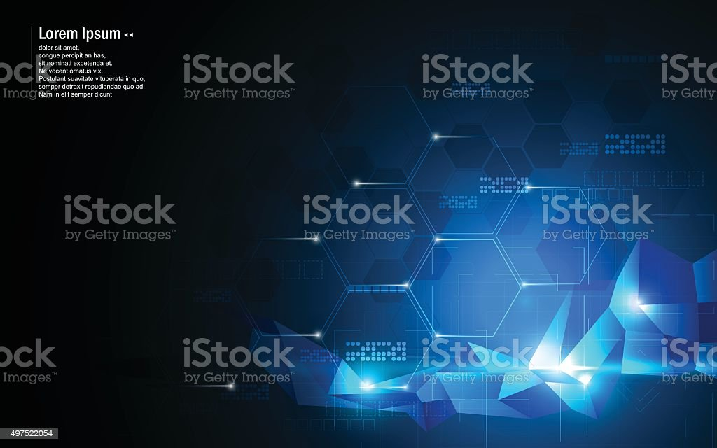 vector abstract background hexagon and low poly design innovation concept vector art illustration