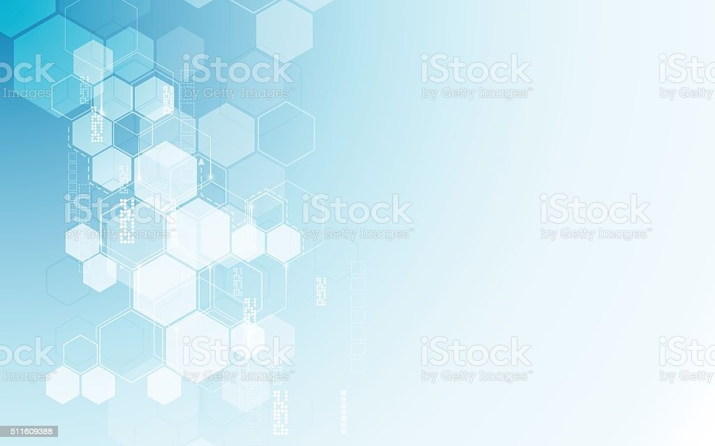 vector abstract background hexagons pattern tech sci fi innovation concept vector art illustration