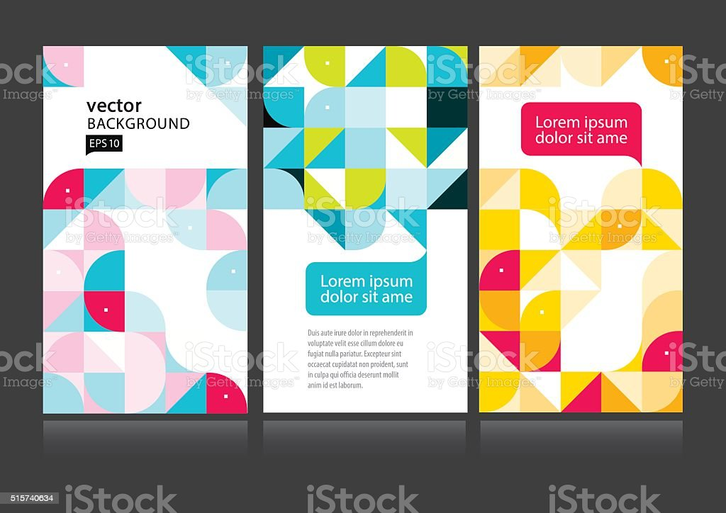 Vector abstract background set stock photo