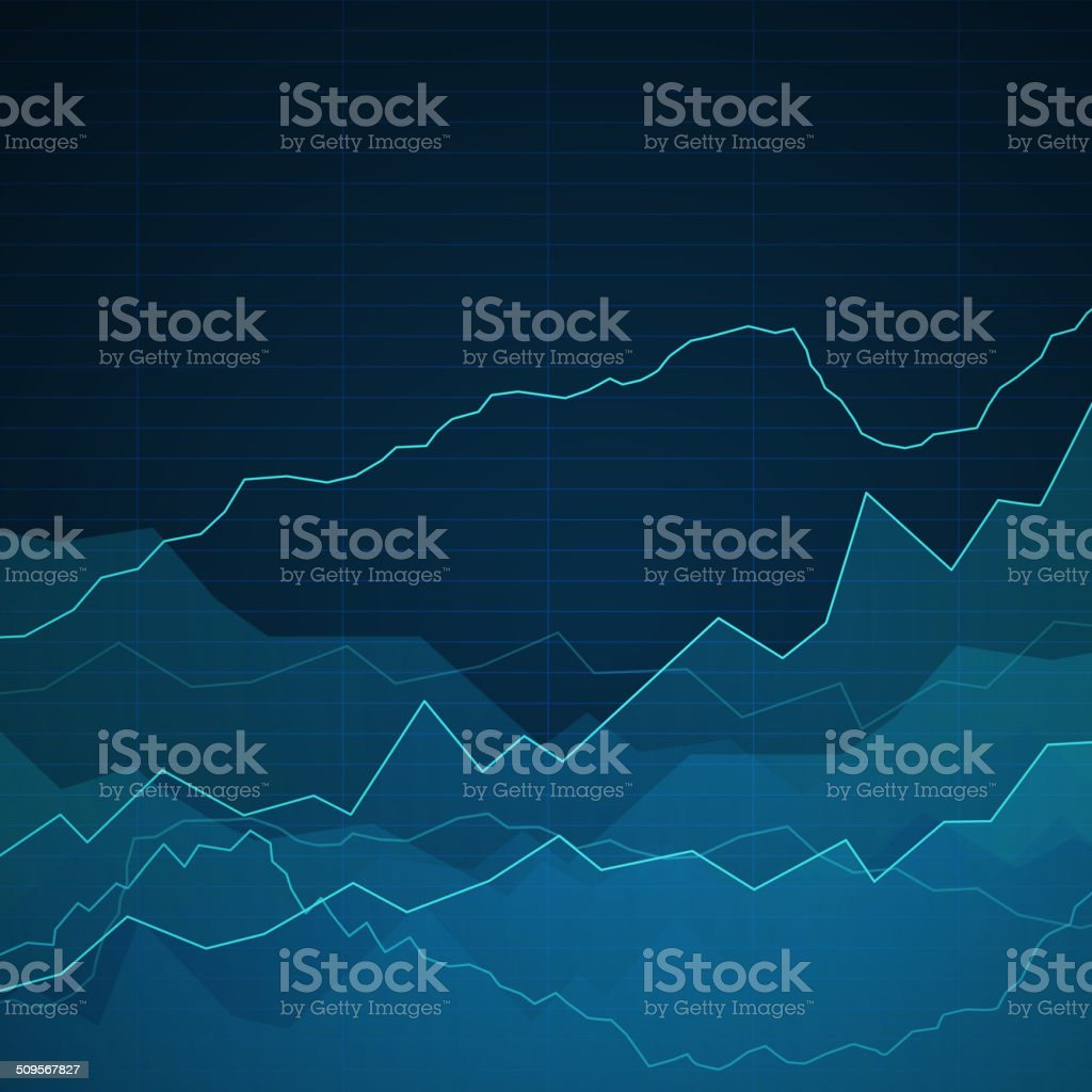 Vector Abstract Background with Graphs vector art illustration