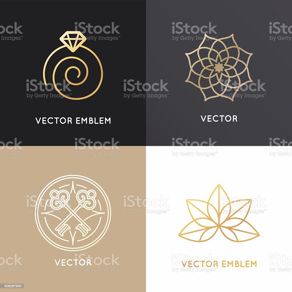 Vector abstract badges and emblems vector art illustration