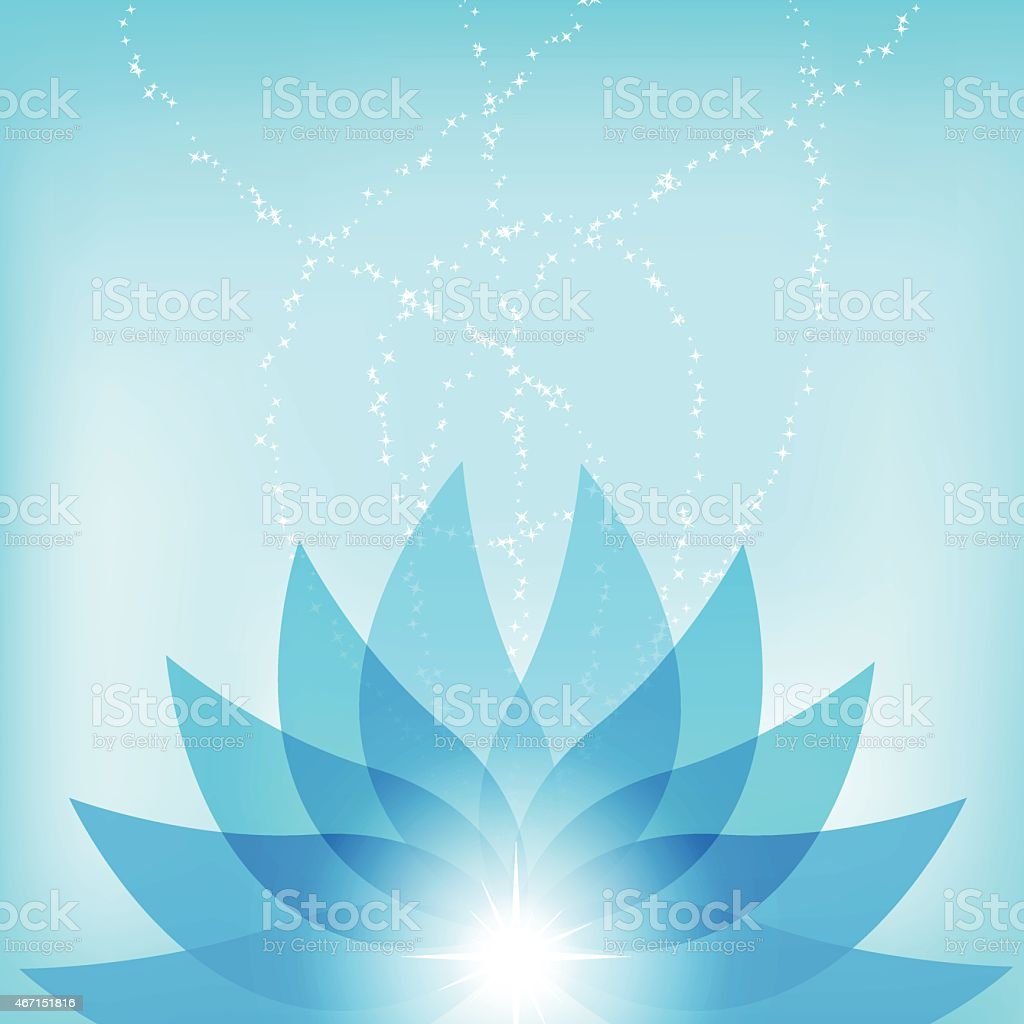 Vector abstract blue lotus flower background illustration stock vector abstract blue lotus flower background illustration royalty free stock vector art dhlflorist Images