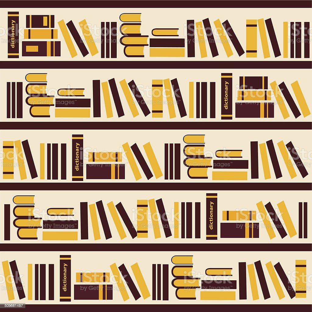 Vector Abstract Bookshelf Illustration Stock Vector Art