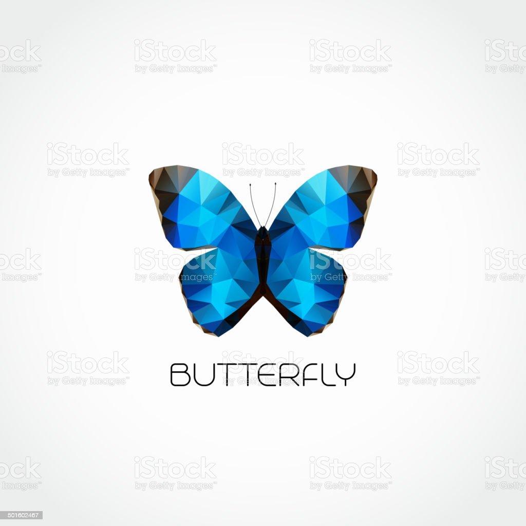 Vector Abstract butterfly symbol modern trendy design vector art illustration