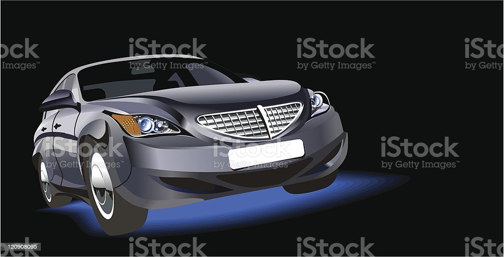 Vector abstract car royalty-free stock vector art