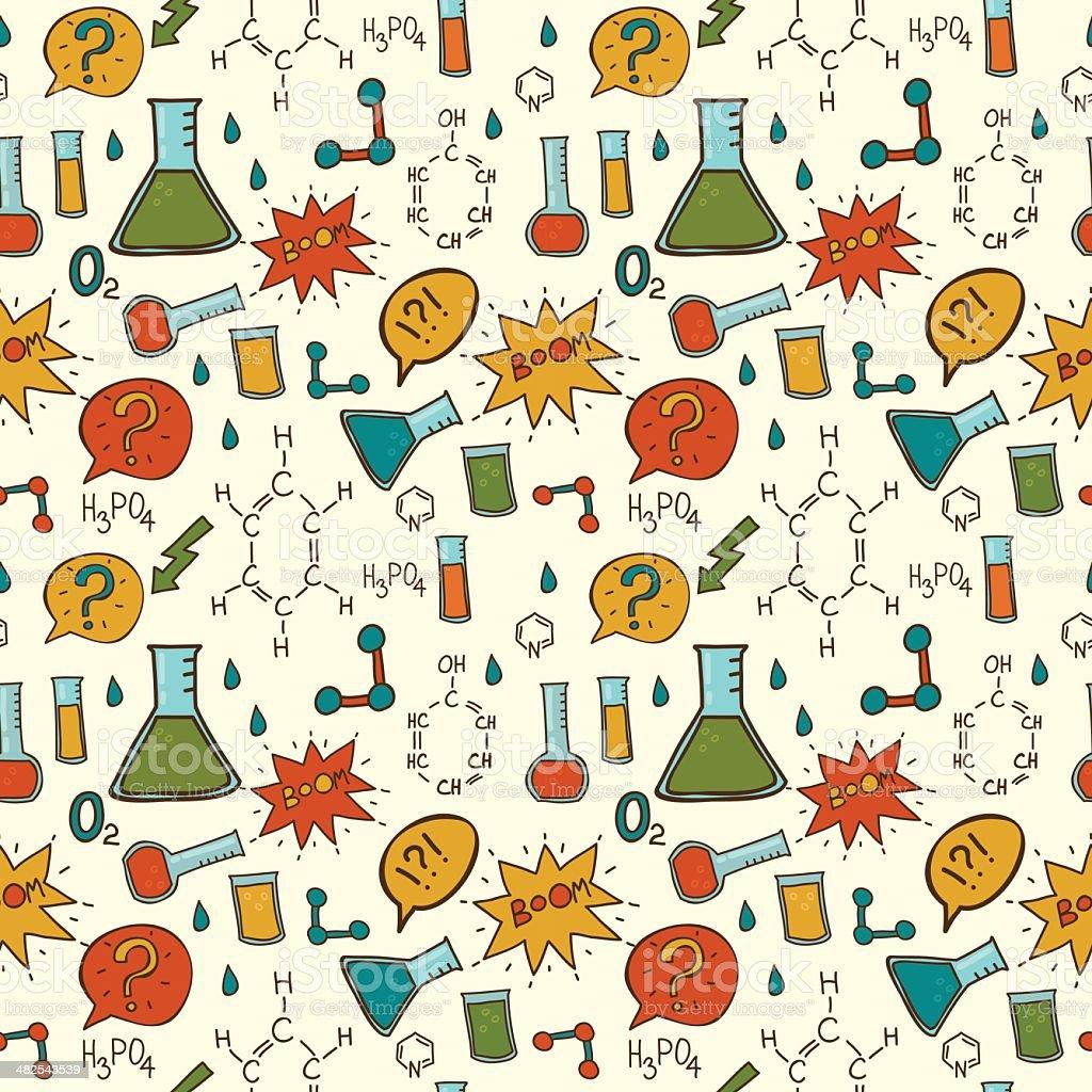 Patrón sin costuras Vector abstract química. illustracion libre de derechos libre de derechos