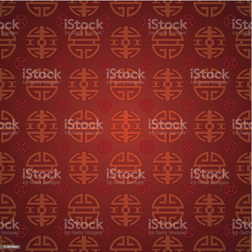 Vector: abstract chinese classical style background vector art illustration