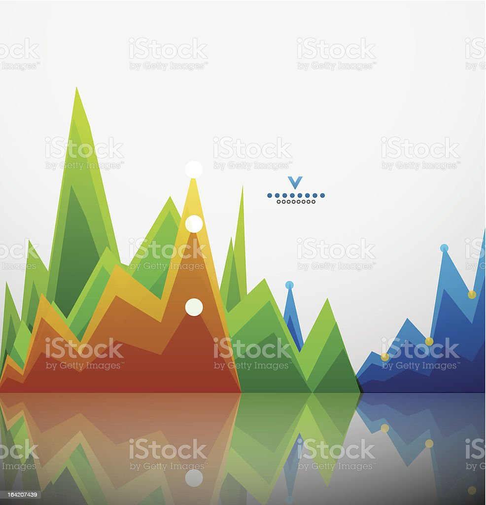 Vector abstract colorful graphs background royalty-free stock vector art