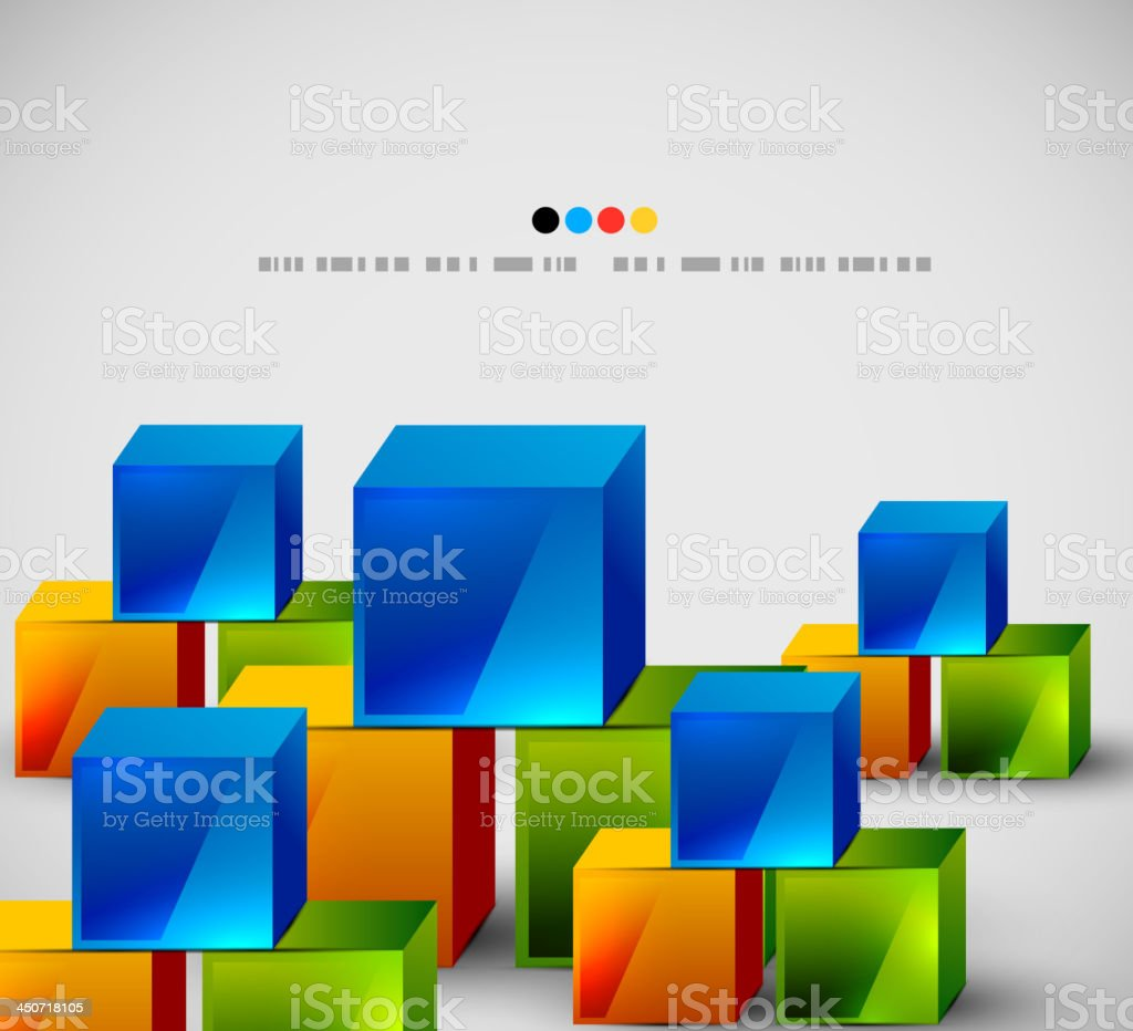 Vector abstract cubes background royalty-free stock vector art