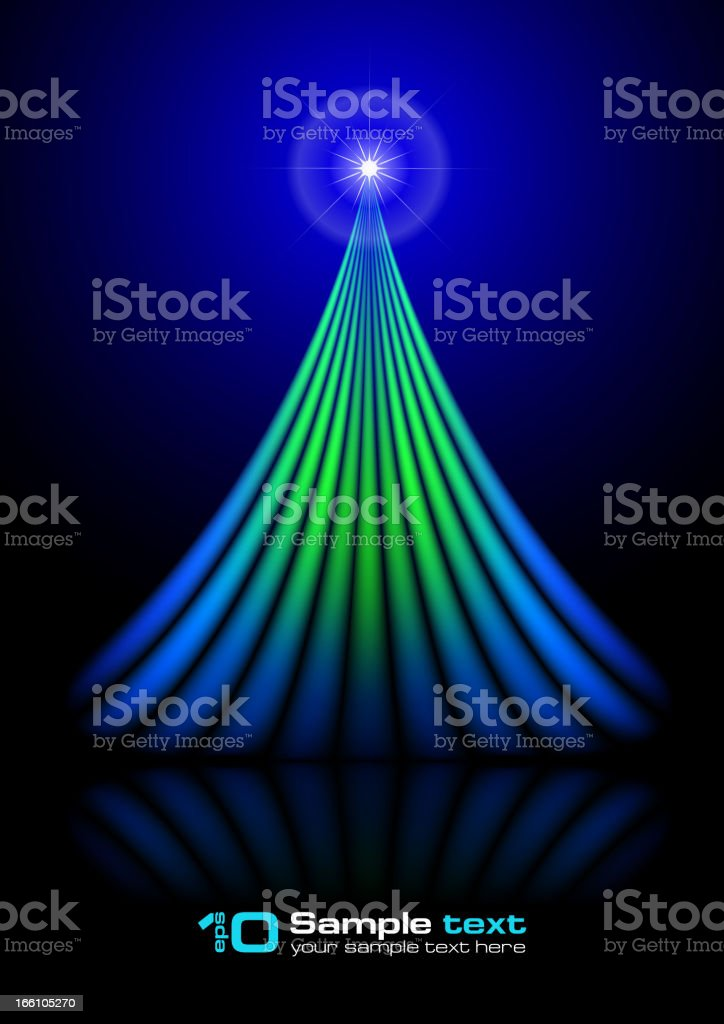 Vector abstract design. Christmas tree. royalty-free stock vector art