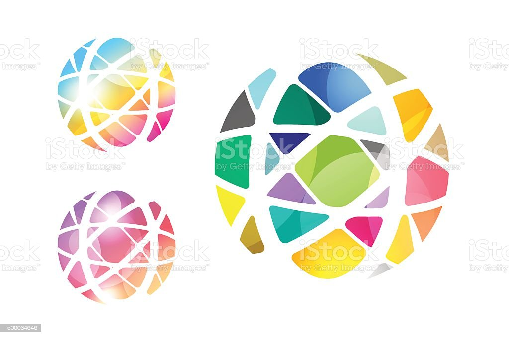 Vector abstract earth globe icon design vector art illustration