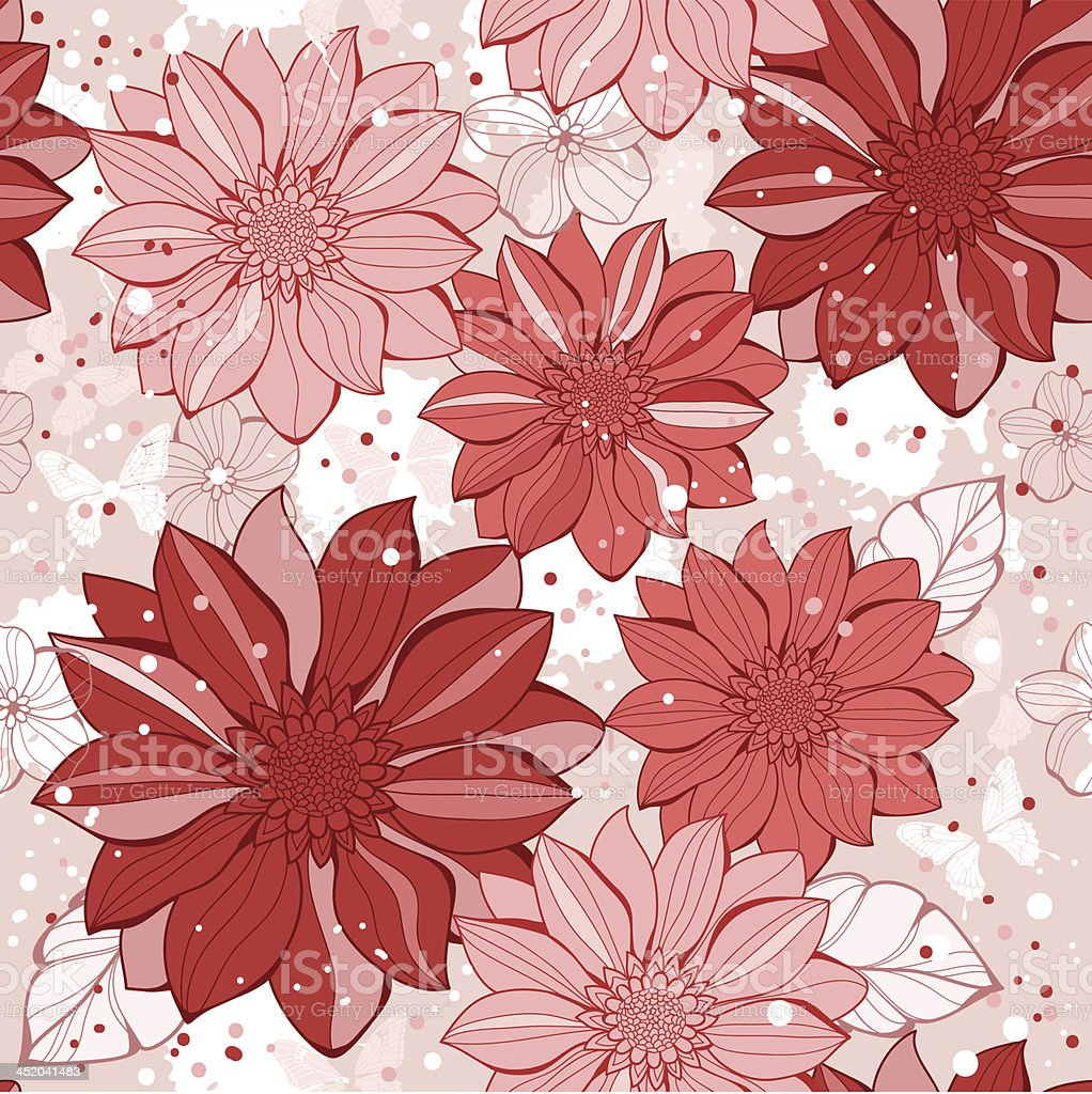 Vector abstract floral seamless royalty-free stock vector art