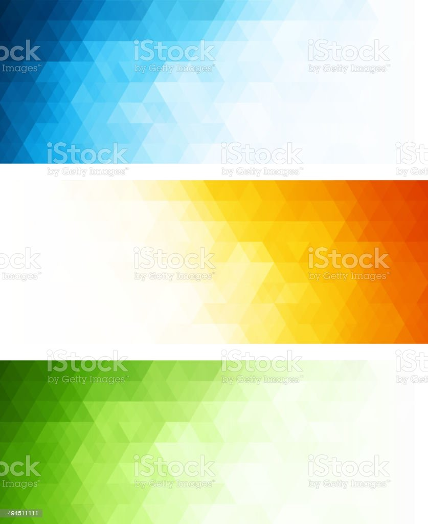 Vector abstract geometric banner with triangle vector art illustration