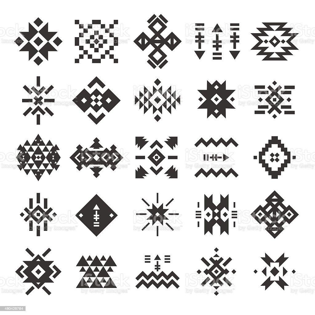 Vector abstract geometric elements vector art illustration