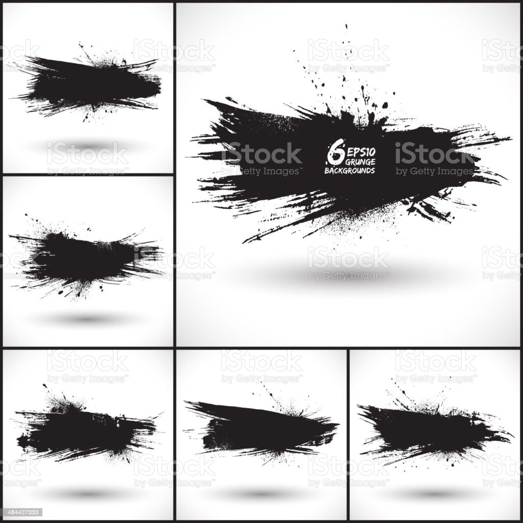 6 vector abstract grunge backgrounds vector art illustration