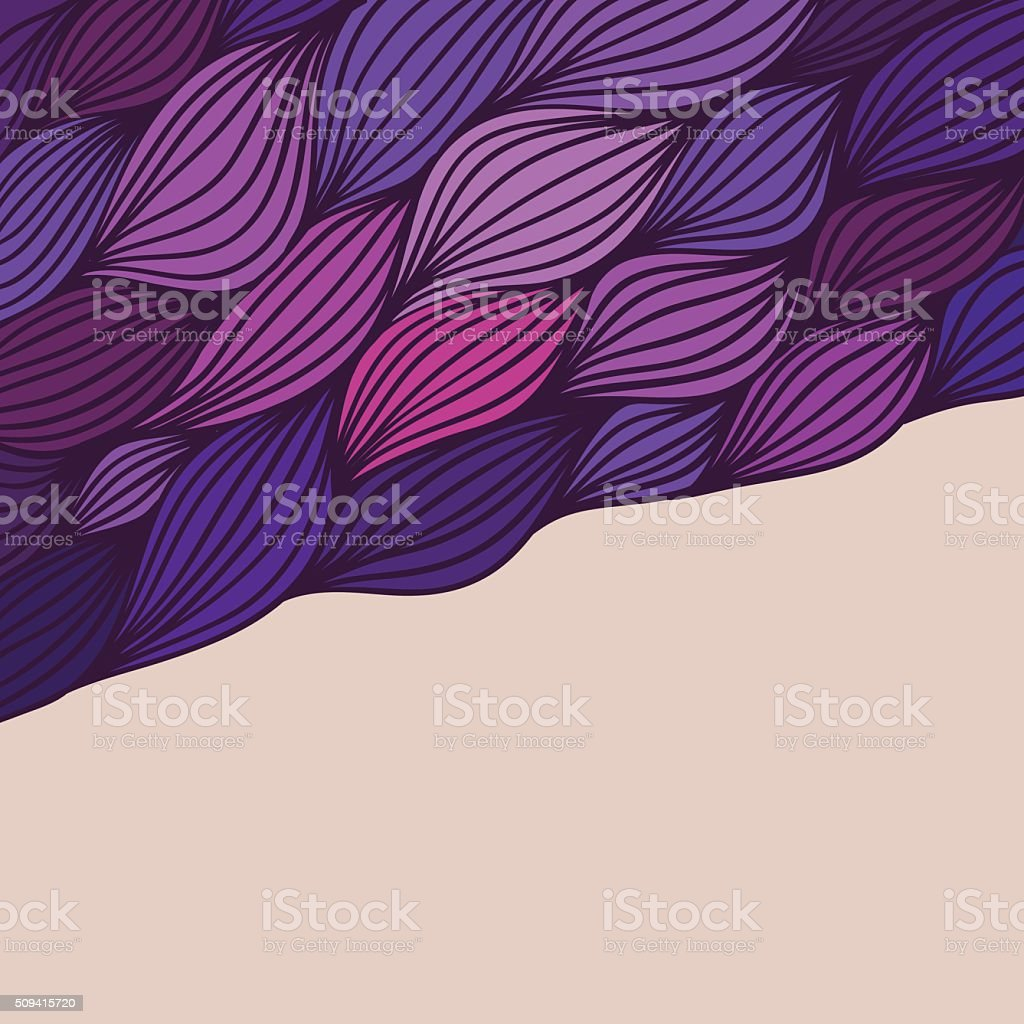 Vector abstract hand-drawn waves texture, wavy background vector art illustration