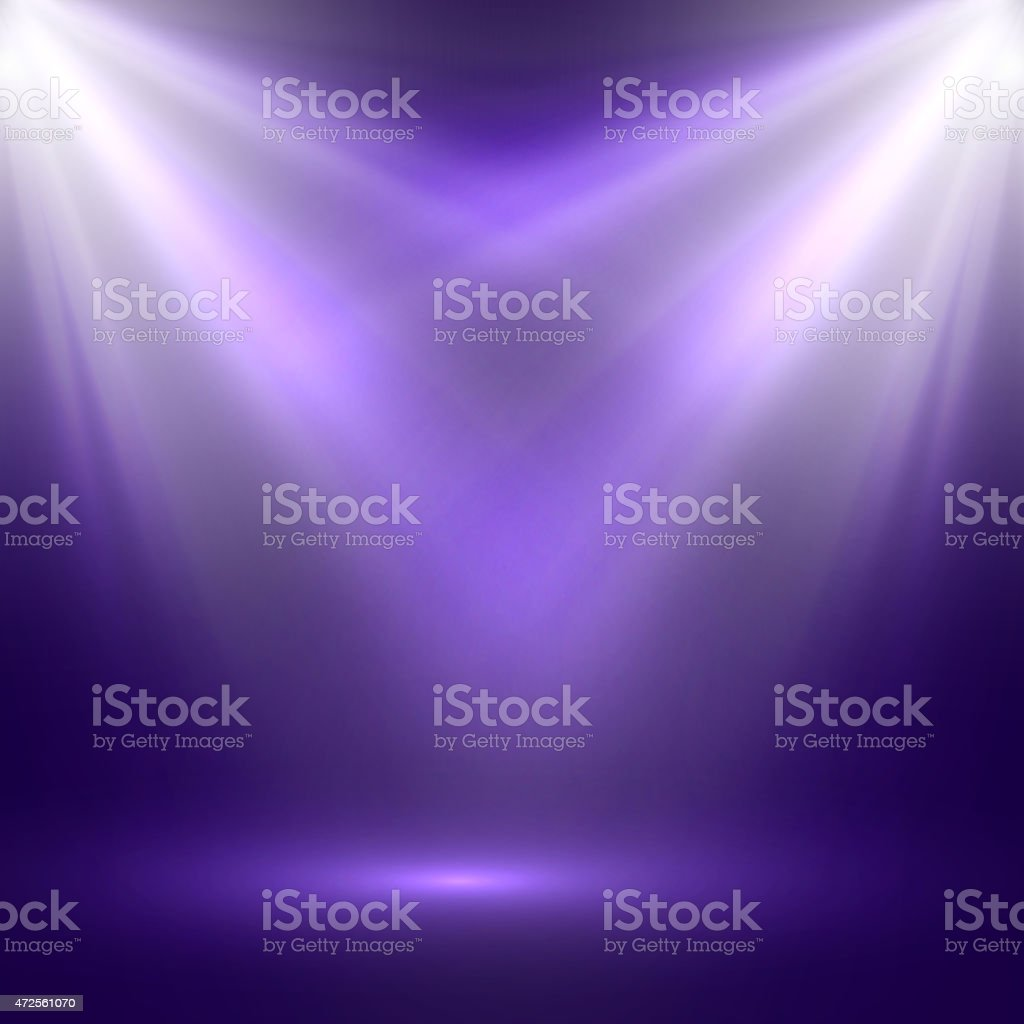 vector abstract illustration of bright stage light rays vector art illustration