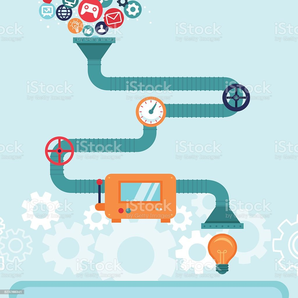 Vector abstract infographics in flat style vector art illustration