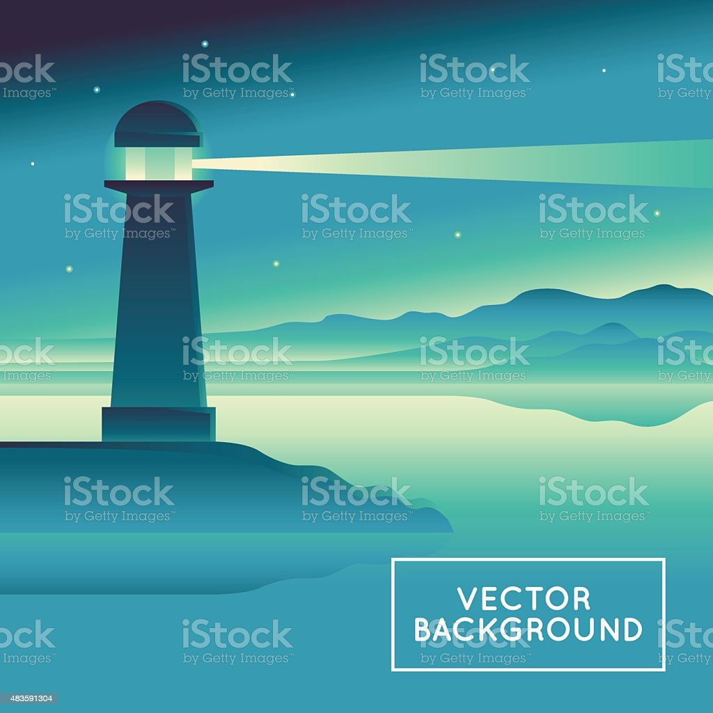 Vector abstract landscape vector art illustration