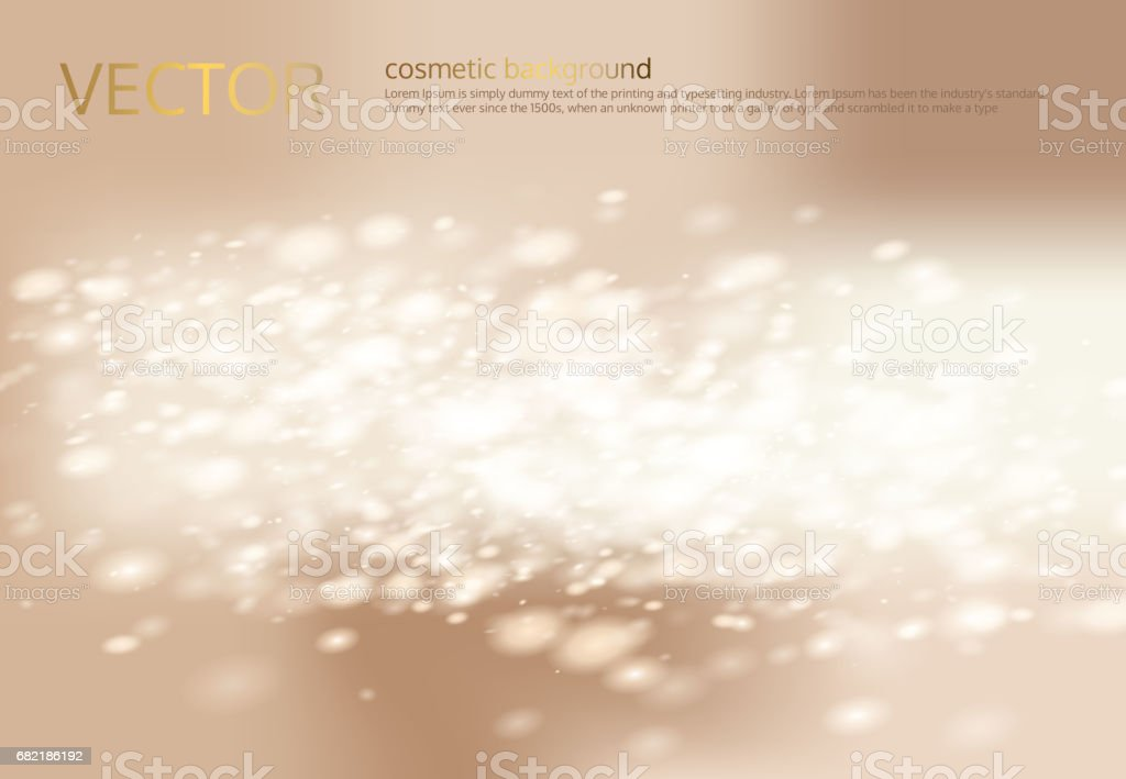 Vector abstract light beige background with silver sparkles, sequins. vector art illustration