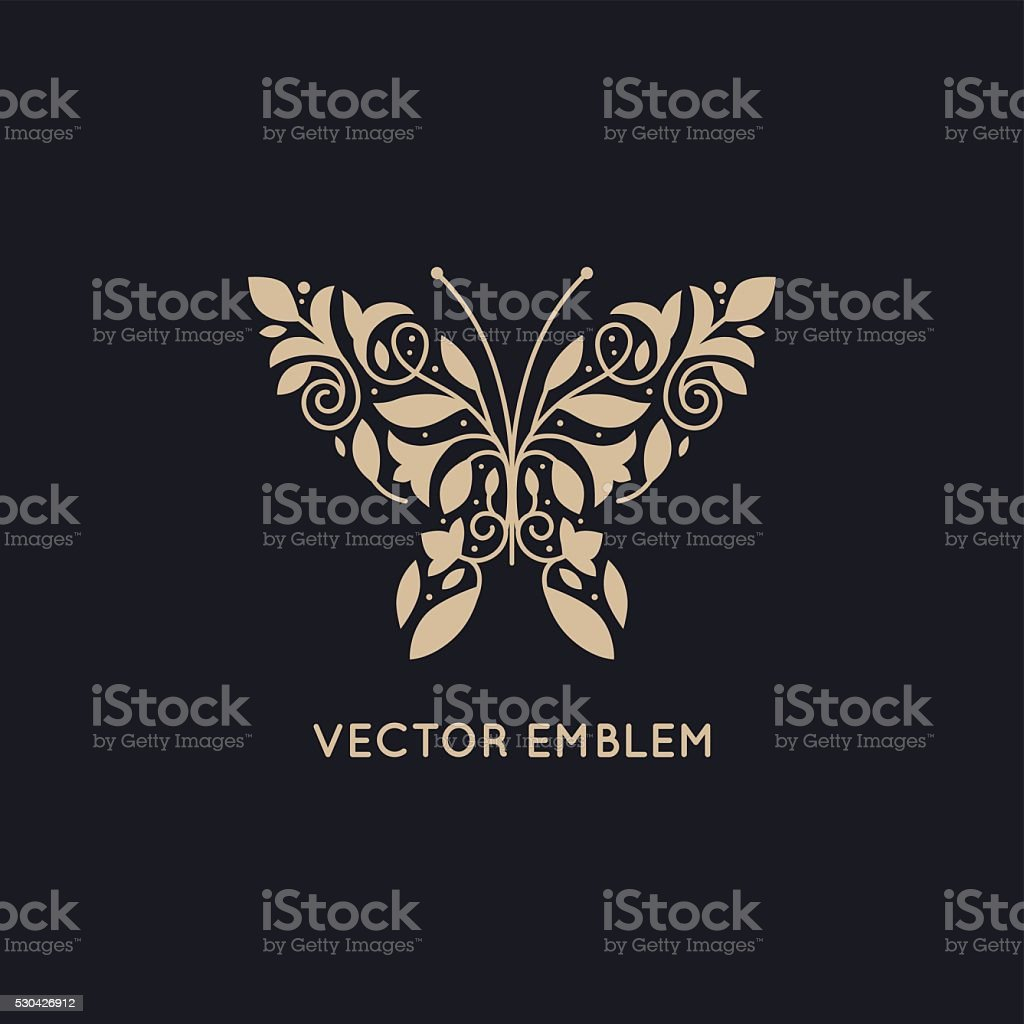 Vector abstract logo design template and emblem vector art illustration
