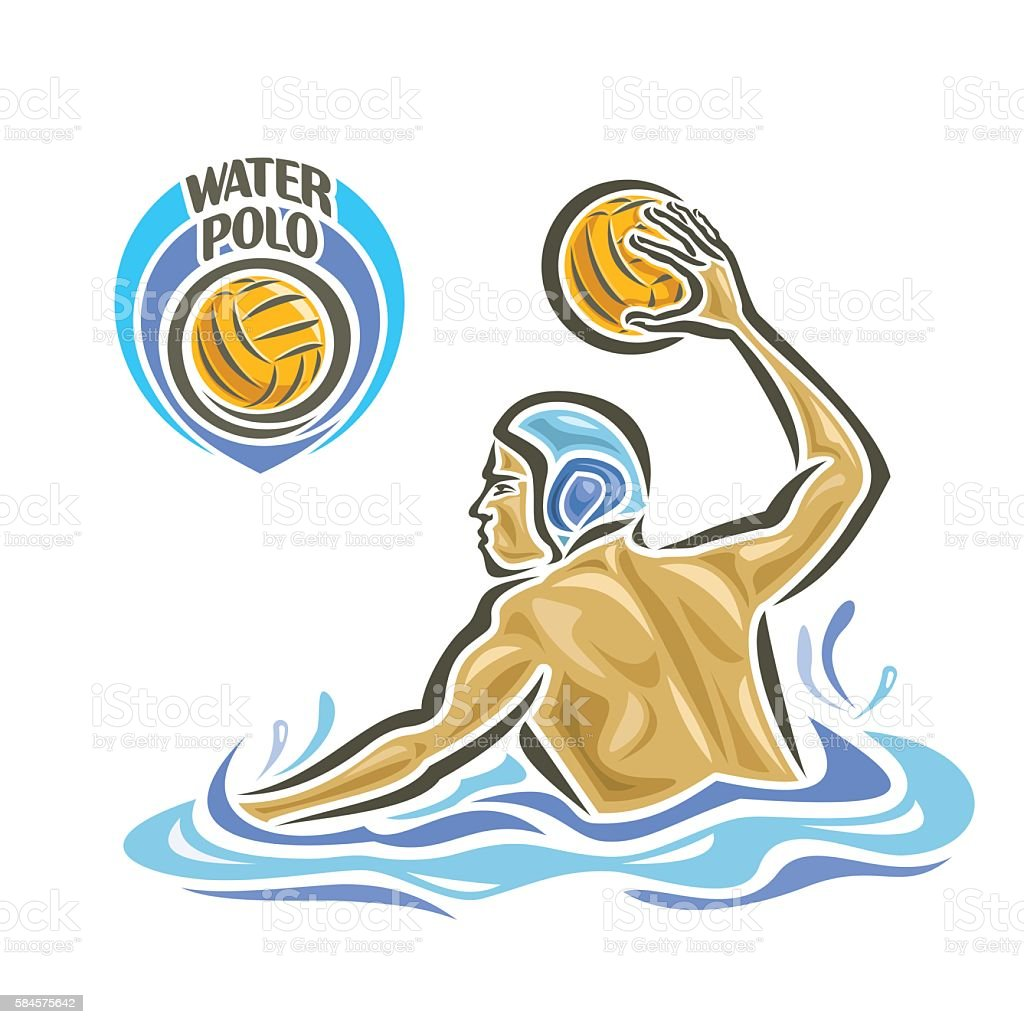 Vector abstract logo for Water Polo vector art illustration