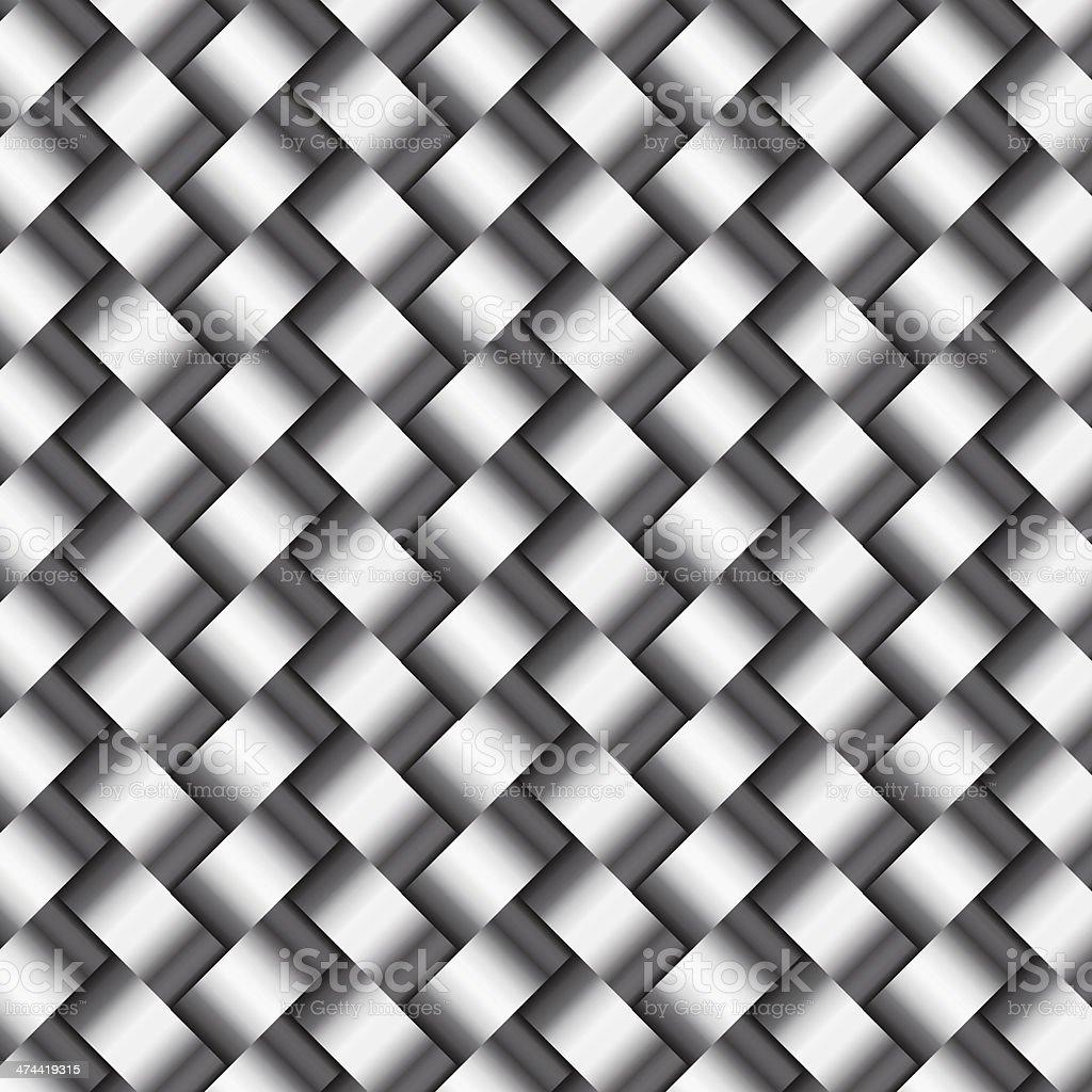 Vector abstract metallic  wickerwork pattern vector art illustration