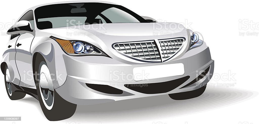 Vector abstract modern car royalty-free stock vector art