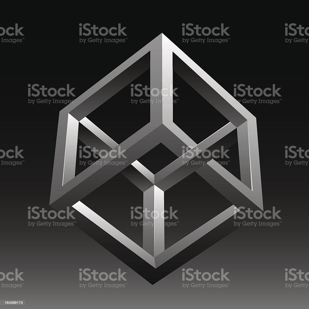 Vector abstract optical illusion vector art illustration
