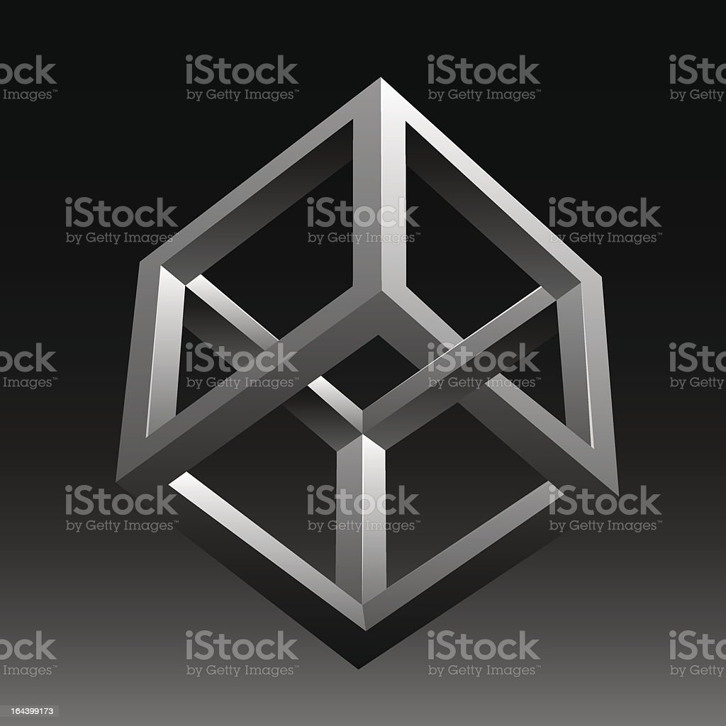Vector abstract optical illusion vector art illustration