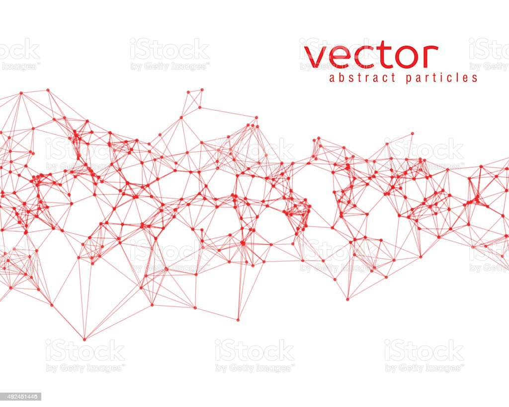 Vector abstract particles vector art illustration