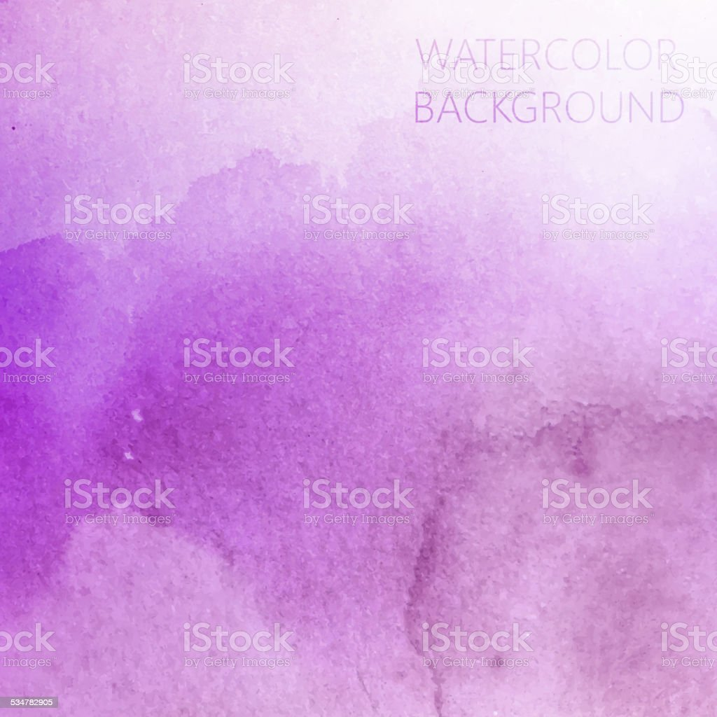 vector abstract purple watercolor background for your design vector art illustration