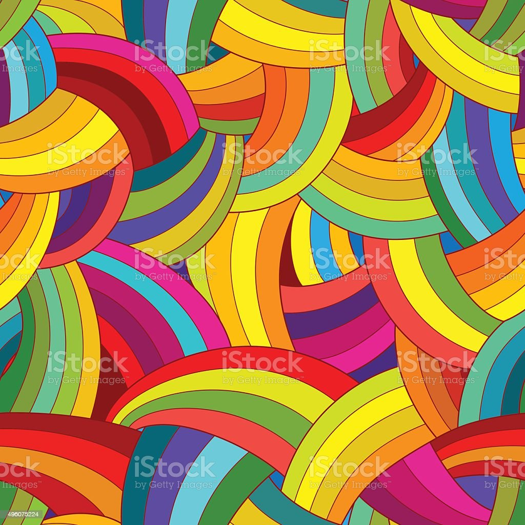 Vector abstract seamless pattern. Colorful background. vector art illustration