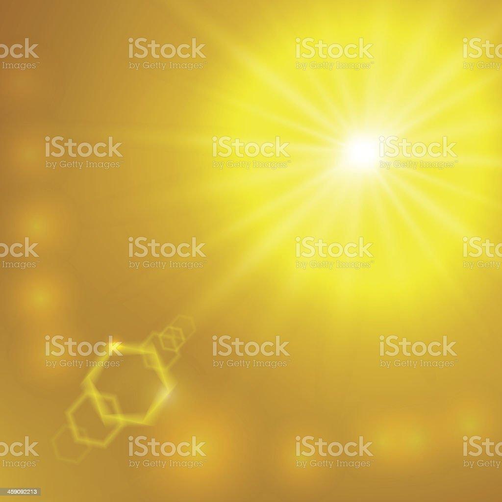 Vector abstract sunlight background vector art illustration