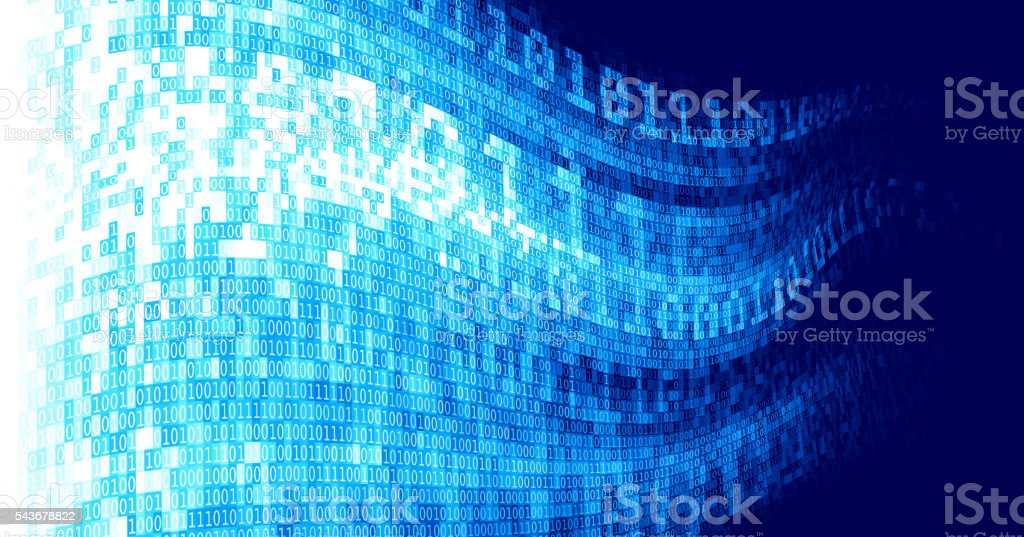 Vector abstract techno background with binary code vector art illustration