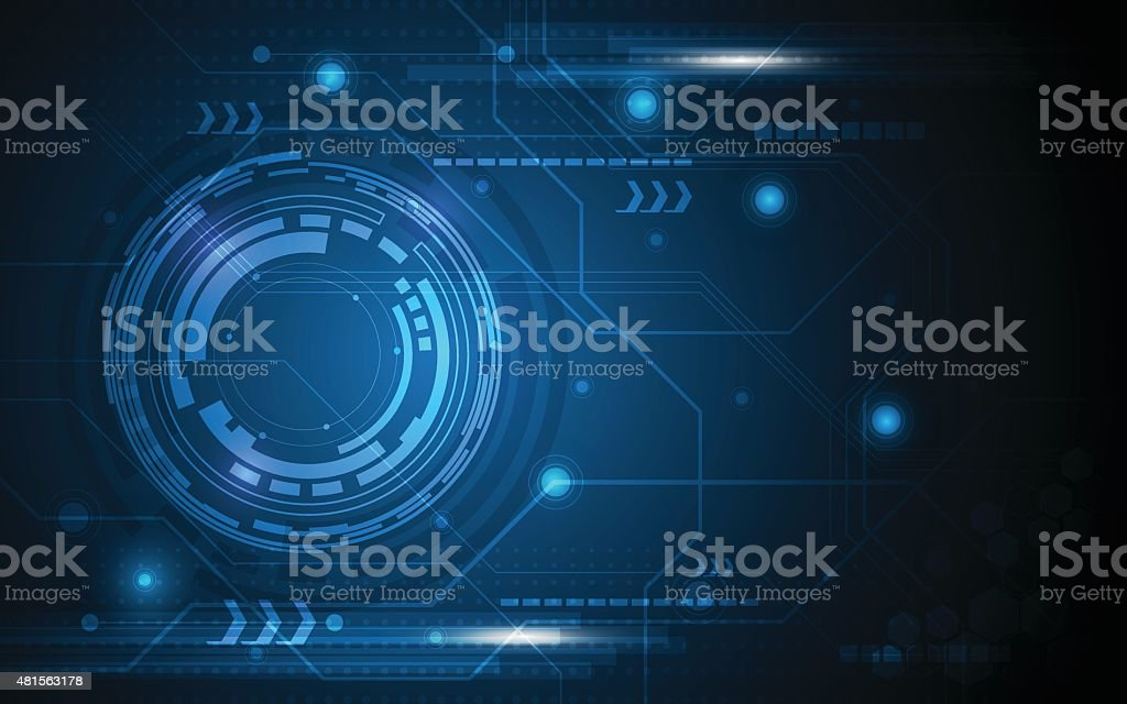 vector abstract technology concept background vector art illustration