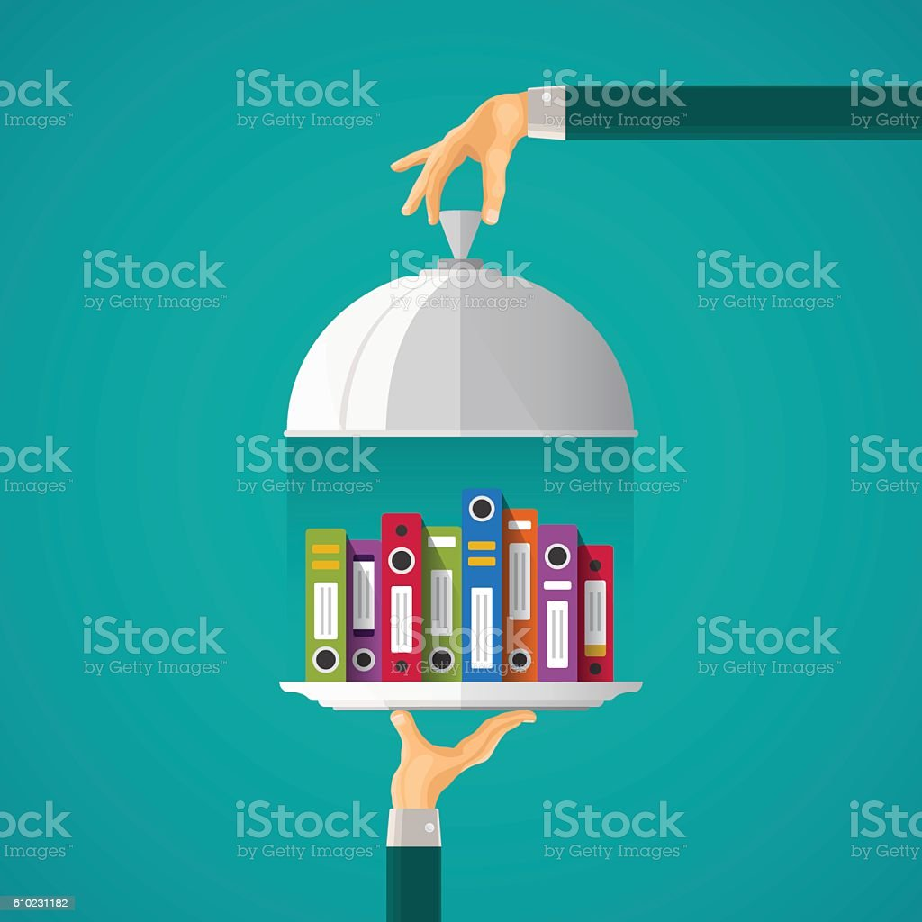 Vector accounting services concept in flat style vector art illustration