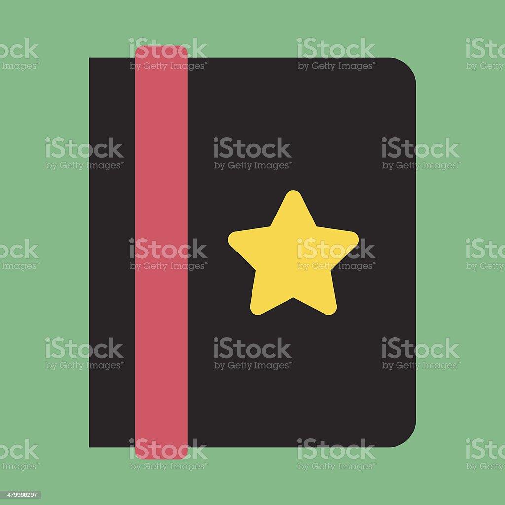 Vector Address Book Icon vector art illustration