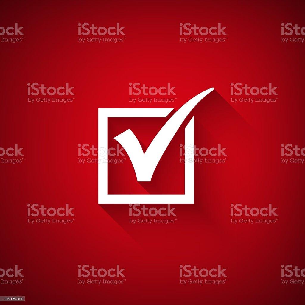 Vector agreement symbols on red background vector art illustration
