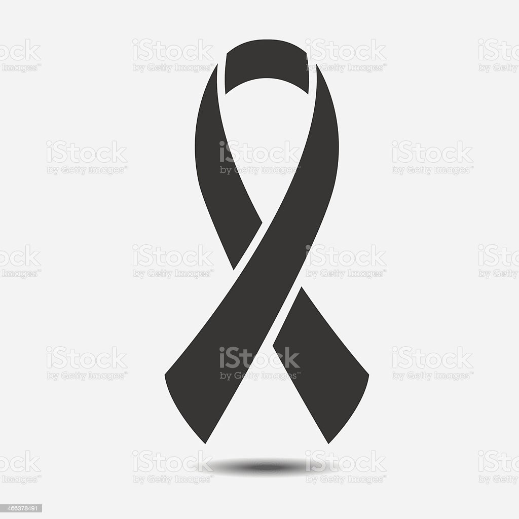 Vector AIDS awareness ribbon sign or icon vector art illustration