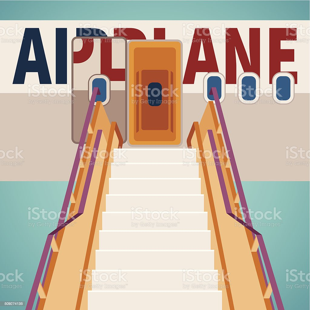 Vector aircraft boarding bridge concept vector art illustration